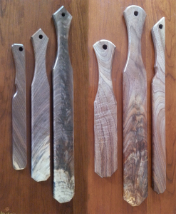 walnut paddles